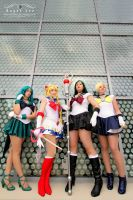 Sailor Moon and the Outer Scouts by DigitalHikari