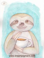 Coffee Sloth by DreamPigment