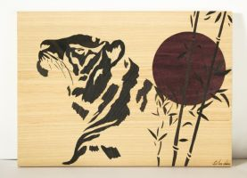 Japanese Tiger marquetry by Andulino