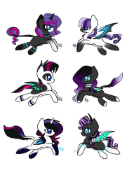 MLP Bred Adopts - Neon Pop Foals (Closed) by PsychoBerries