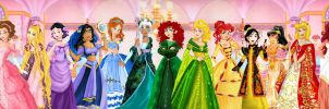 Disney Princess Group by LadyAmber