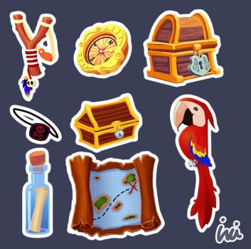 Kid Pirates Game icons by InciAlper