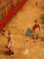 Clown Display at Circus World BarabooWI7/26/14 100 by Crigger