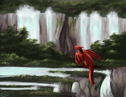 Dragonscape by StormyandRescuer