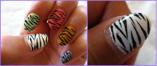 Zebra nails by My-Safe-Haven