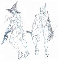 redesigns . vampire hunter d and witchblade ! :D by Selkirk