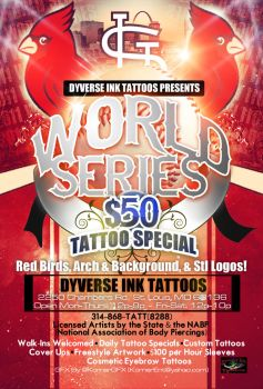 Cardinals World Series Flyer by Numbaz