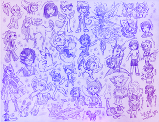 Birthday Sketch Requests 2015 by StickFreeks