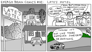 Energy Brain Comics #72: Late's Motel by EnergyBrainComics
