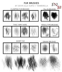 Fur Brushes for Photoshop by TamberElla