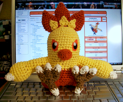 Combusken Crochet Plush by First-Mate-Kate