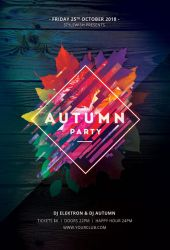 Autumn Party Flyer by styleWish