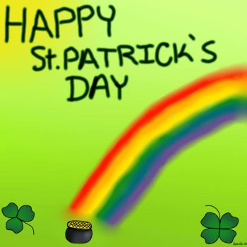 Happy St. Patrick's Day Greeting Card by ScarletCB1999