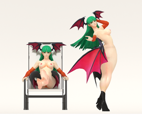 Morrigan R-18 Nude Model by AWESOMEKILLING
