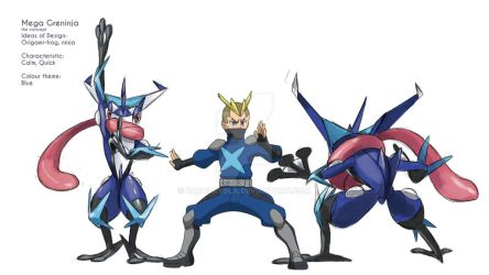 Mega Greninja by zacharybla