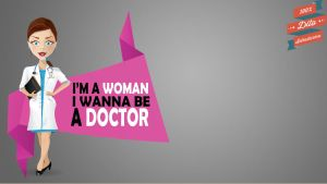 Woman Doctor Vector by 7Dito