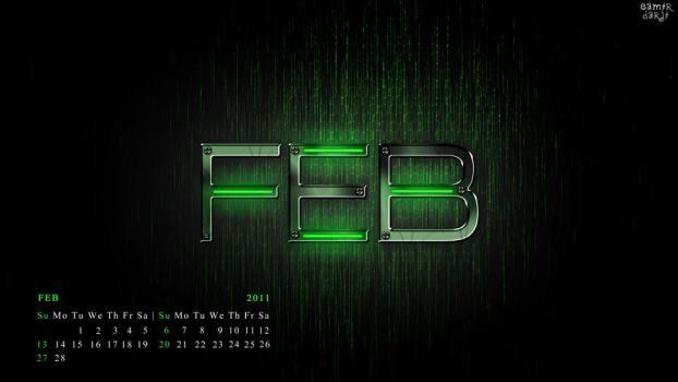 my feb calendar..........2011 by samstifler