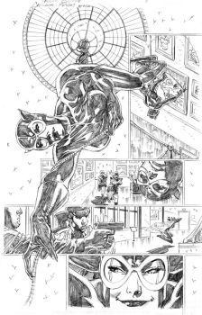 Catwoman Futures End page 1 pencils by PatrickOlliffe