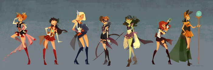 Sailor Avengers by nna
