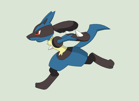 Pokemon Base 154~Lucario 4~