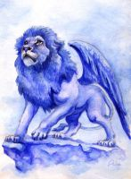 Blue lion by Lin-the-Wanderer