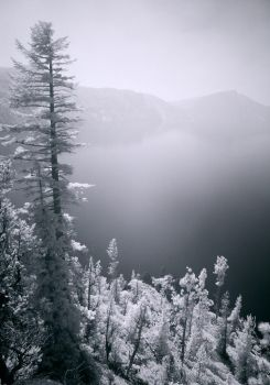 Smoky Crater Lake by Rhavethstine