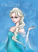 Elsa Frozen by nutJT