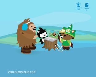 Official Mascots for Vancouver by petri5ied