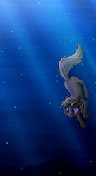 Apple Cobbler in an underwater setting by paper-pony
