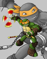 Michelangelo Ready For Battle by RoxasTsuna