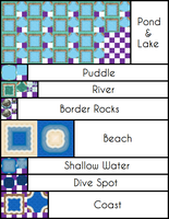 B-W Water Tiles by UltimoSpriter