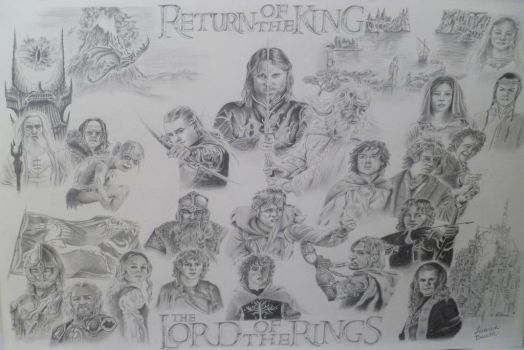 Lord of the Rings collage poster by AuthenticBeauty1