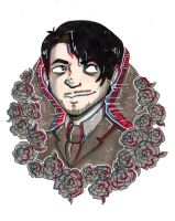 Darkiplier Sticker design by GGcosplay