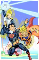 Goku Vegeta  Vs Superman by Zaatis