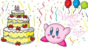 kirby 20th Anniversary by ninpeachlover