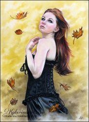 Autumn Leaves by Katerina-Art