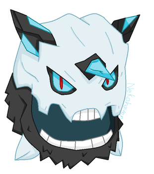 Mega Glalie - MS Paint by Foxfang0Sapphireclan