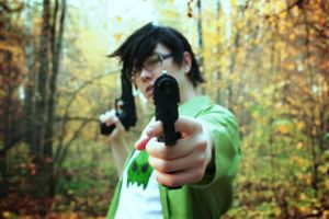 Jake English cosplay - you're at gunpoint! by Dead-Batter