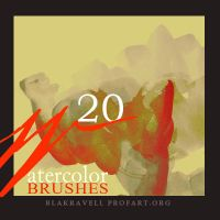 Watercolor brushes Set 4 by Blakravell