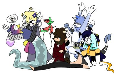 Draw the.. Squad? by Crazy-Snakeu