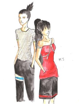 Contest Entry - Ami and Shikamaru by Meerabelle