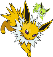 135 - Jolteon - Art v.4 by Tails19950
