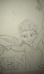 FROZEN - Elsa new drawing started by NickTheDragonTrainer