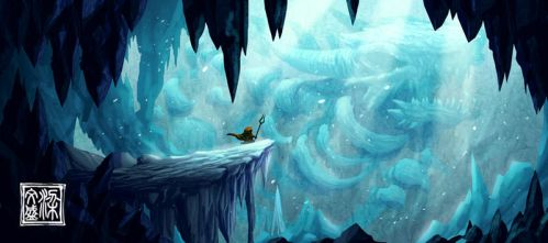Icy Dragon Cave by Wenart