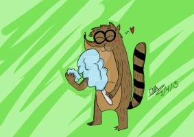 Rigby Cotten Candy by GirlinLuvAnime