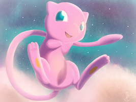 A Mew in the Sky by Steve-the-Lucario
