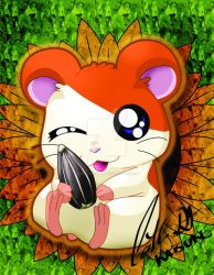 Hamtaro Signed by Katsuke-artwork