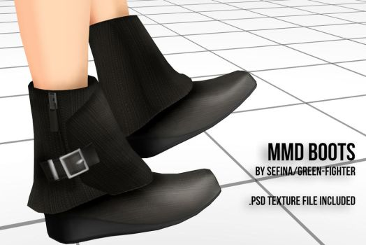 MMD Boots+DL by Sefina-NZ