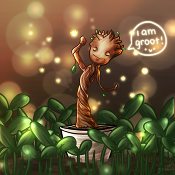 Baby Groot by Genieh