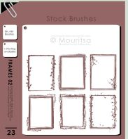 Brush Pack - Grungy Frames 02 by iMouritsa